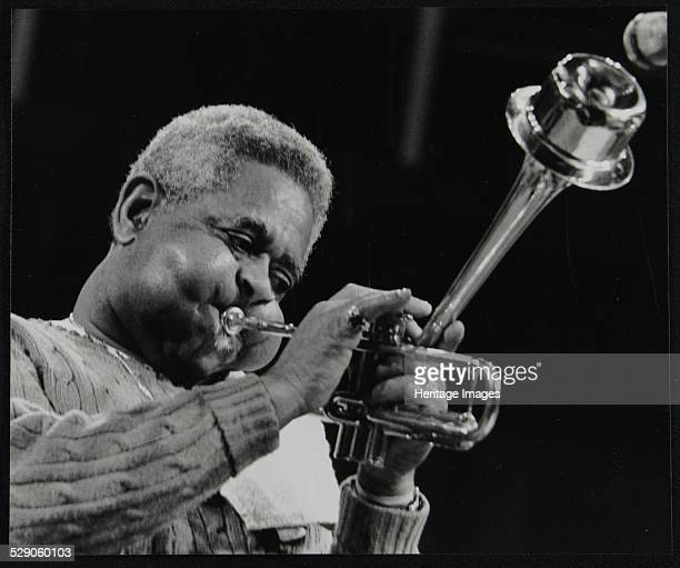 Dizzy Gillespie performing with the Royal Philharmonic Orchestra Royal Festival Hall London 1 November 1985 Artist Denis Williams