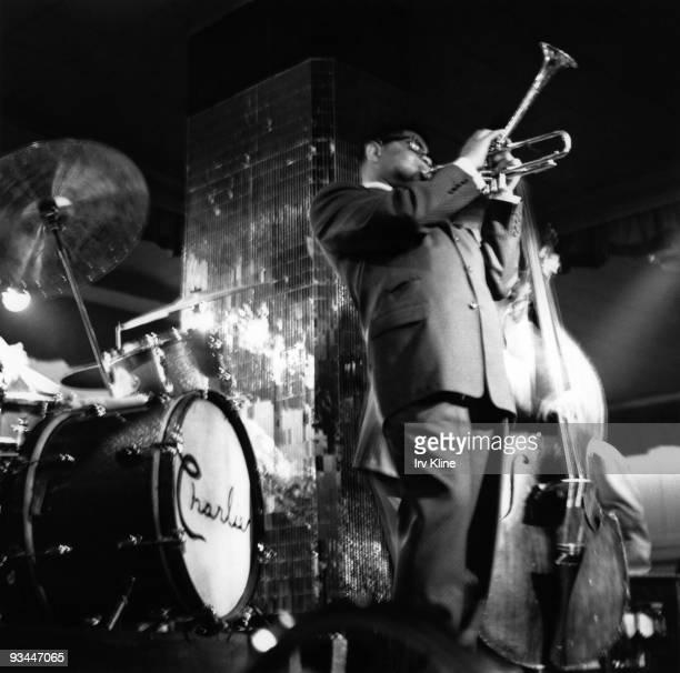 Dizzy Gillespie performs on stage in a jazz club circa 1963 in Philadelphia Pennsylvania