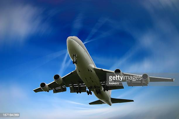 Dizzy landing of a Jumbo Boeing 747