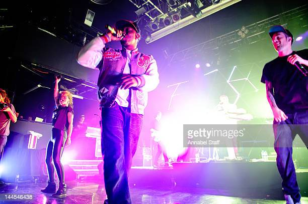 Dizzy Rascal performs on stage with DJ Fresh at KOKO on May 15 2012 in London United Kingdom