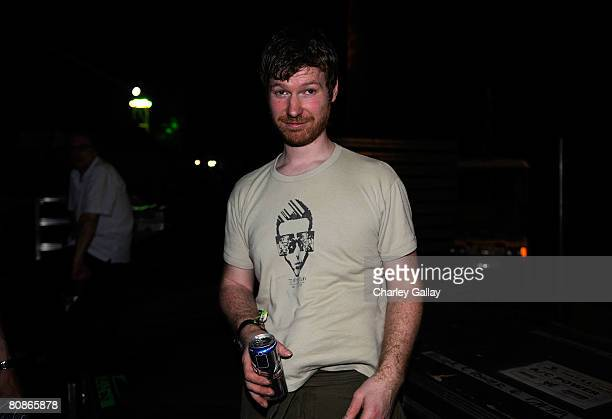 Dj Aphex Twin during day 1 of the Coachella Valley Music and Arts Festival at the Empire Polo Field on April 25 2008 in Indio California