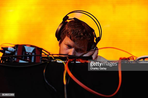 Dj Aphex Twin performs during day 1 of the Coachella Valley Music and Arts Festival at the Empire Polo Field on April 25 2008 in Indio California