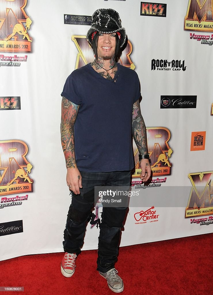 Dj Ashba walks the red carpet at the Vegas Rocks! Magazine Awards on August 26, 2012 in Las Vegas, Nevada.