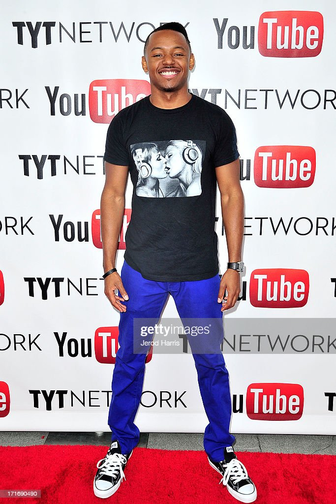 Dj B-Hen arrives at YouTube and TYT Network Present the 1st Annual YouTube PRIDE Party Hosted By Dave Rubin at YouTube Space LA on June 27, 2013 in Los Angeles, California.