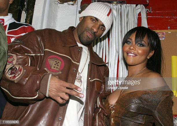 Dj Clue and Lil Kim during Joint Chief's Concert At The Apollo November 23 2004 at Apollo in New York United States