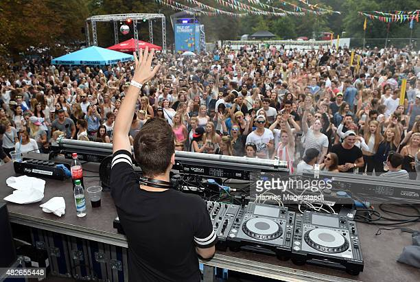 Dj Felix Jaehn performs during the 'Isle OF Summer' festival on August 1 2015 in Oberschleissheim Germany