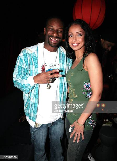 Dj Irie and Mya during Universal Bowling Party at Lucky Strike in Miami Florida United States