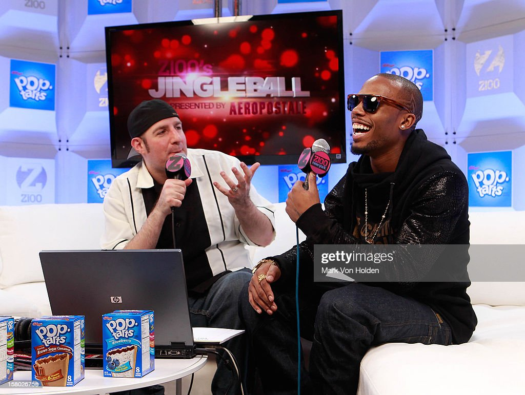 Dj JJ, and B.O.B attend the Z100 Artist Gift Lounge Presented by Pop Tarts at Z100's Jingle Ball 2012 at Madison Square Garden on December 7, 2012 in New York City.