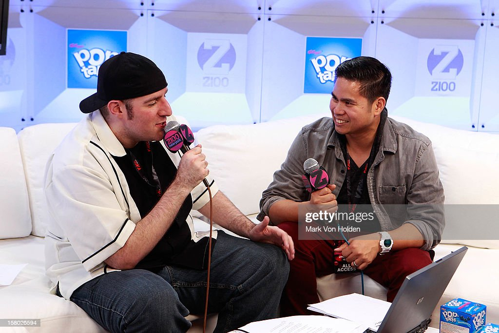 Dj JJ and Dj Riddler attends the Z100 Artist Gift Lounge Presented by Pop Tarts at Z100's Jingle Ball 2012 at Madison Square Garden on December 7, 2012 in New York City.