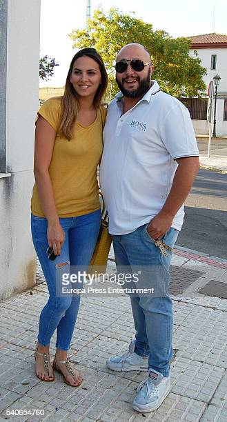 Dj Kiko Rivera and his girlfriend Irene Rosales pose the day of Irene Rosales's birthday on June 15 2016 in Seville Spain