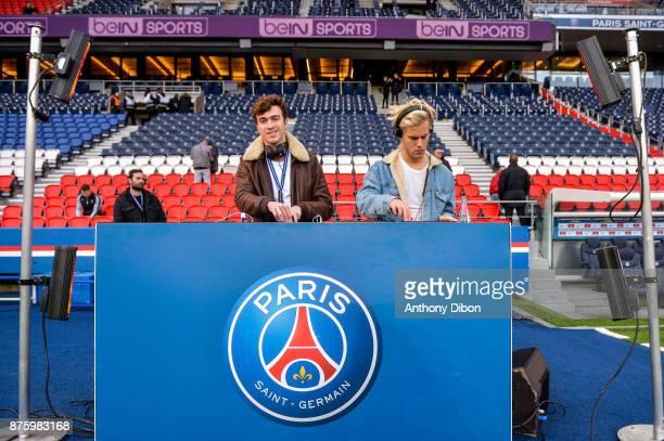 Dj set of Ofenbach during the Ligue 1 match between Paris Saint Germain and Nantes at Parc des Princes on November 18 2017 in Paris