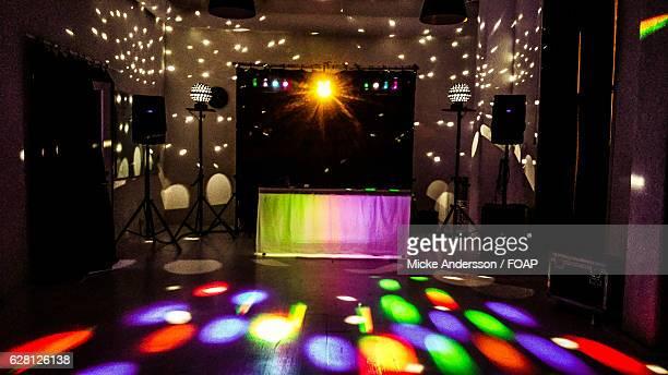Dj setup in nightclub