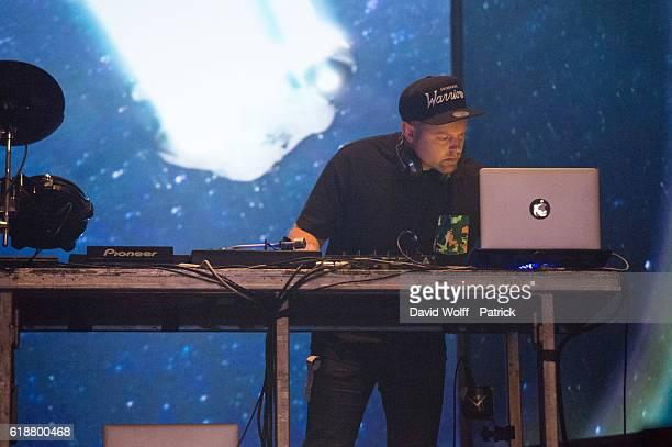 Dj Shadow performs at Grande Halle de La Villette on October 27 2016 in Paris France