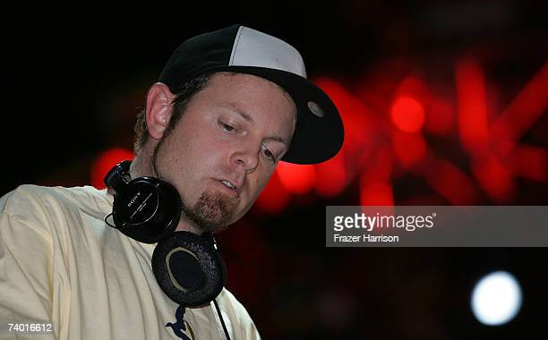 Dj Shadow performs during day 1 of the Coachella Music Festival held at the Empire Polo Field on April 27 2007 in Indio California