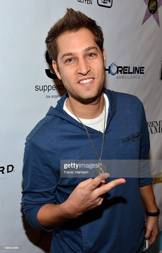 Dj Splice arrives at Interscope Geffen A&M Promotions Department 9th Annual Holiday Party And Toy Drive at SupperClub Los Angeles on December 18, 2012 in Los Angeles, California.