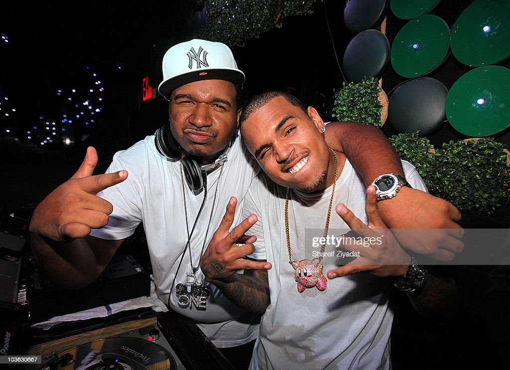 Dj SUss One and Chris Brown visit Greenhouse on August 24, 2010 in New York City.