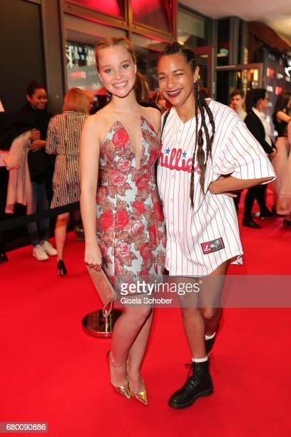Dj Taneshia Abt and Sonja Gerhardt during the New Faces Award Film at Haus Ungarn on April 27 2017 in Berlin Germany