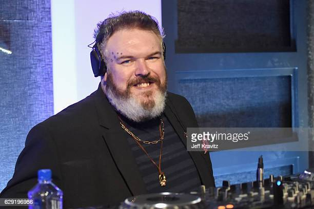 DJ/actor Kristian Nairn onstage during The 22nd Annual Critics' Choice Awards at Barker Hangar on December 11 2016 in Santa Monica California