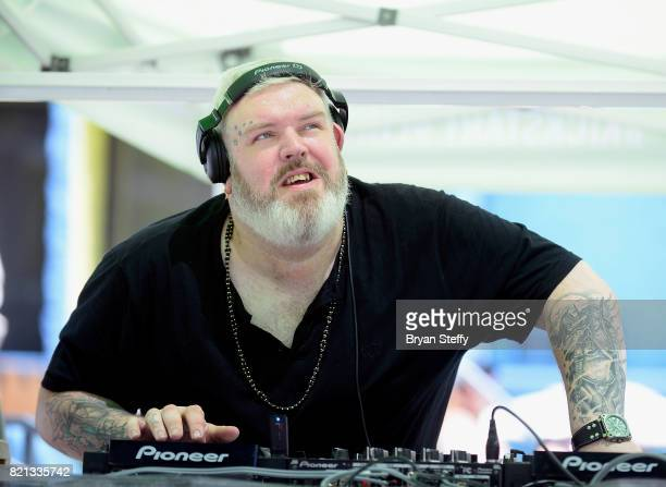 DJ/actor Kristian Nairn performs at The LINQ Hotel Casino on July 23 2017 in Las Vegas Nevada