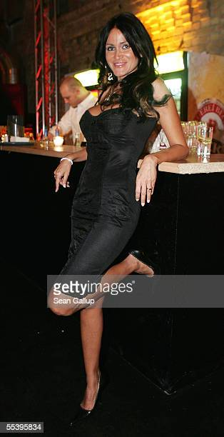 Djamila Rowe attends the opening party of the Popkomm music trade fair September 13 2005 at the Kulturbrauerei in Berlin Germany