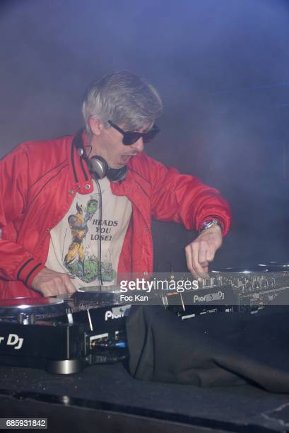 DJ/composerÊ/actor Kavinsky aka Vincent Belorgey performs during the Villa Schweppes Kavinsky Party at Grand Palais 70th annual Cannes Film Festival...