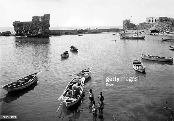 Djebail The harbour and the fortifications About 1914