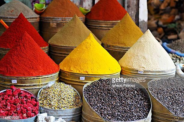 Djemaa el Fna market spices.