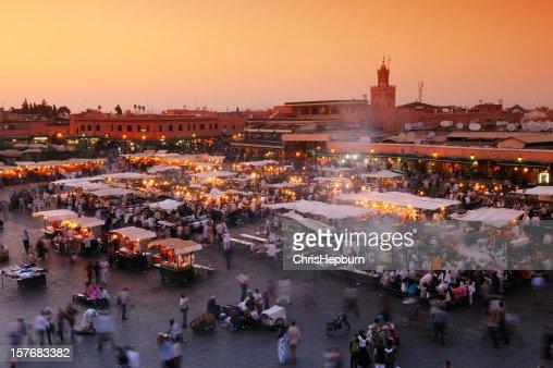 Djemaa El Fna 、マラケシュ、モロッコ