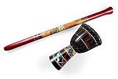 Bougarabou Drum and Didgeridoo - Isolated