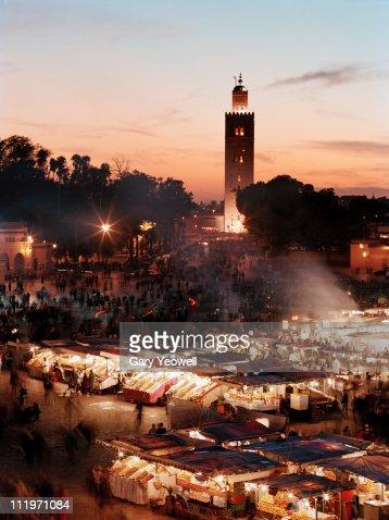 Djemma el Fna square at dusk