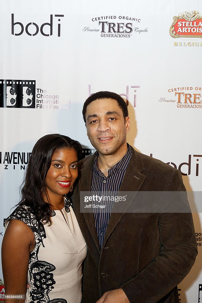 Djena Graves Lennix and Harry Lennix attend Michigan Avenue Magazine Celebrates H4 Starring Harry Lennix at Bodi Chicago on October 20 2013 in...