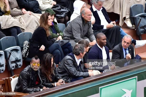 Djibril CISSE / Jean Luc REICHMANN / Gregory BAUGE / Jean GACHASSIN Jour 8 Roland Garros 2015 Photo Dave Winter / Icon Sport