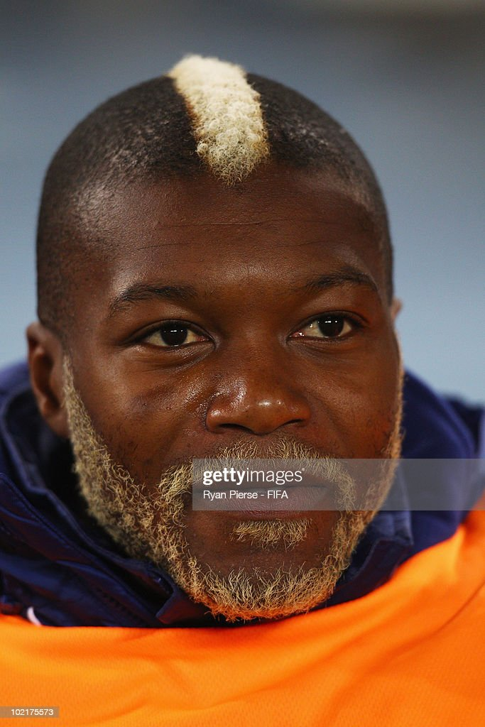 Djibril Cisse of France looks on prior to the 2010 FIFA World Cup South Africa Group A match between France and Mexico at the Peter Mokaba Stadium on June 17, 2010 in Polokwane, South Africa.