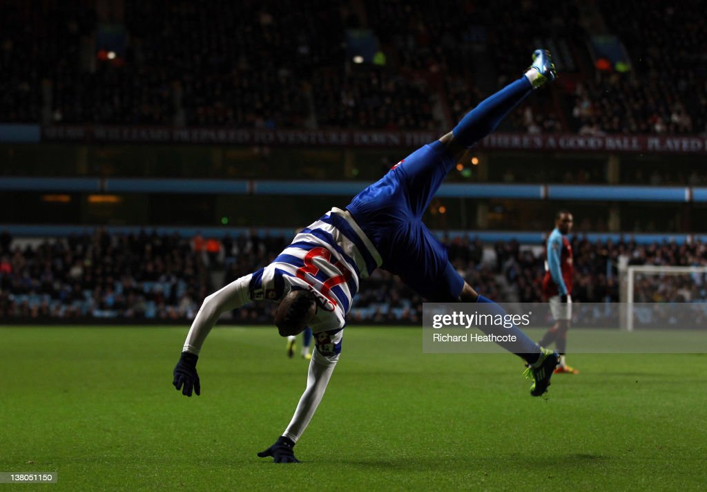 <a gi-track='captionPersonalityLinkClicked' href=/galleries/search?phrase=Djibril+Cisse&family=editorial&specificpeople=210952 ng-click='$event.stopPropagation()'>Djibril Cisse</a> of QPR celebrates scoring the opening goal during the Barclays Premier League match between Aston Villa and Queens Park Rangers at Villa Park on February 1, 2012 in Birmingham, England.