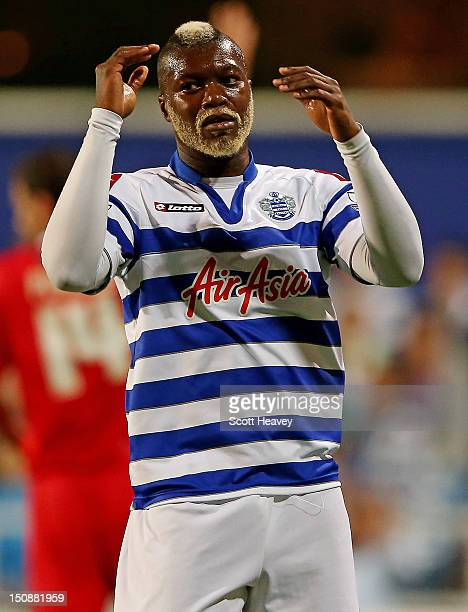 Djibril Cisse of Queens Park Rangers during the Capital One Cup Second Round match between Queens Park Rangers and Walsall at Loftus Road on August...