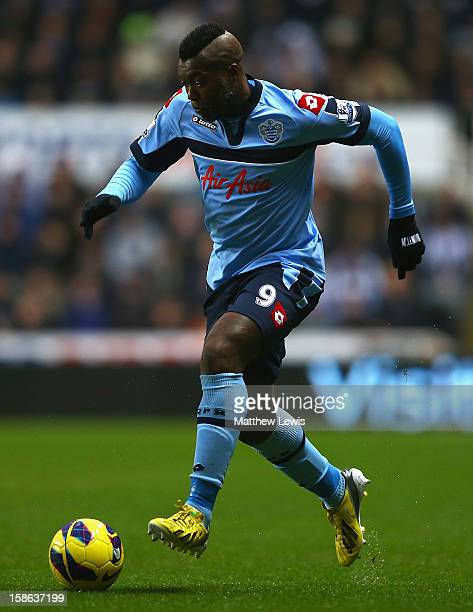 Djibril Cisse of Queens Park Rangers in action during the Barclays Premier League match between Newcastle United and Queens Park Rangers at St James'...