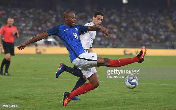 Djibril Sidibe of France in action during the international friendly match between Italy and France at Stadio San Nicola on September 1 2016 in Bari...