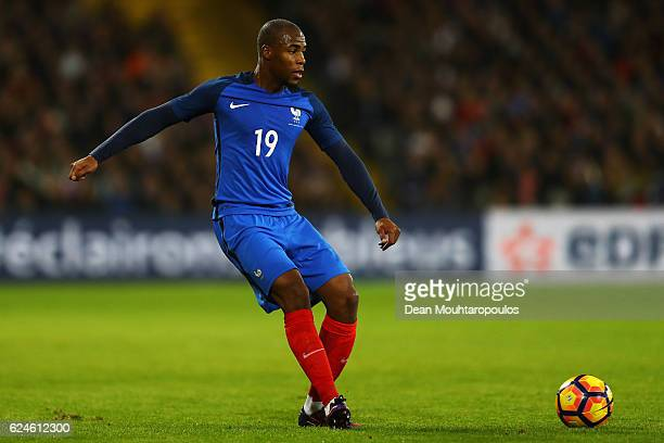 Djibril Sidibe of France in action during the International Friendly match between France and Ivory Coast held at Stade Felix Bollaert Deleis on...