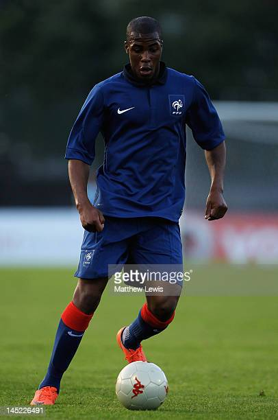 Djibril Sidibe of France in action during the Toulon Tournament Group B match between Belarus and France at Stade de Lattre on May 24 2012 in Aubagne...