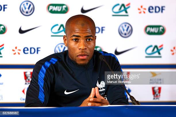 Djibril Sidibe of France in press conference during the preparation on the French football National Team for Euro 2016 on May 19 2016 in Biarritz...