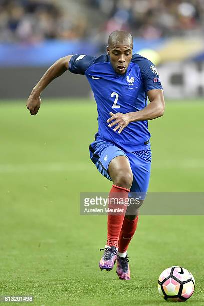 Djibril Sidibe of France runs with the ball during the FIFA 2018 World Cup Qualifier between France and Bulgaria at Stade de France on October 7 2016...