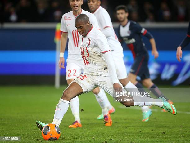 Djibril Sidibe of Lille in action during the french Ligue 1 match between Paris SaintGermain FC and Lille LOSC at the Parc des Princes stadium on...