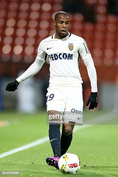 Djibril Sidibe of Monaco during the Ligue 1 match between Fc Lorient and As Monaco at Stade du Moustoir on November 18 2016 in Lorient France