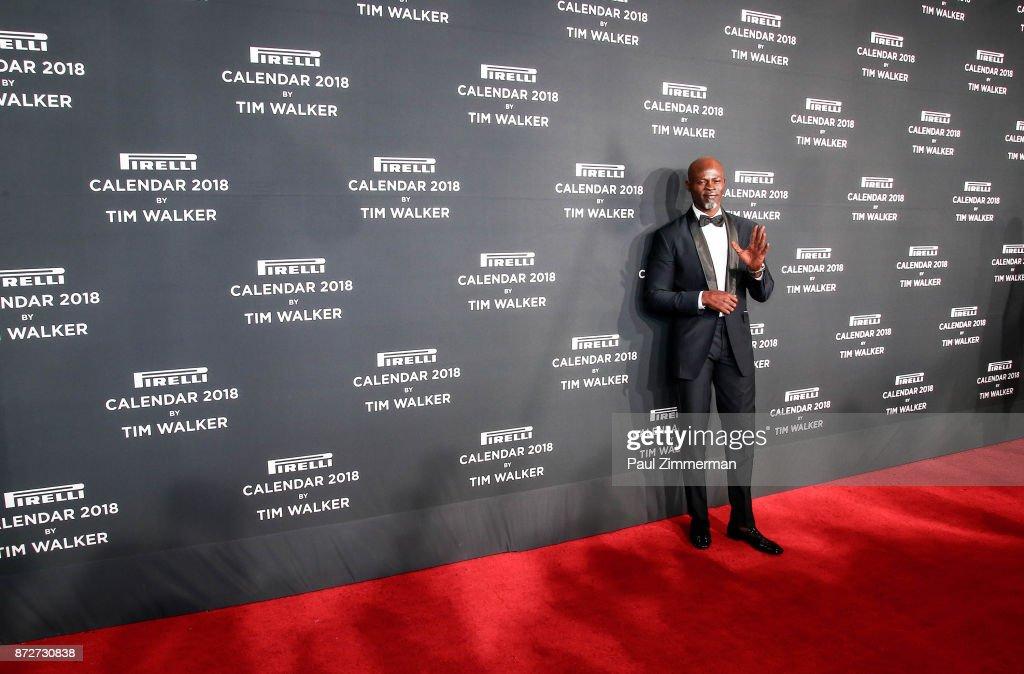 Djiman Hounsou attends Pirelli Calendar 2018 Launch Gala at The Manhattan Center on November 10, 2017 in New York City.