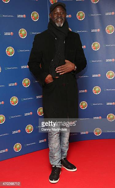 Djimon Hounsou attends the Didier Drogba foundation charity ball at The Dorchester on April 18 2015 in London England