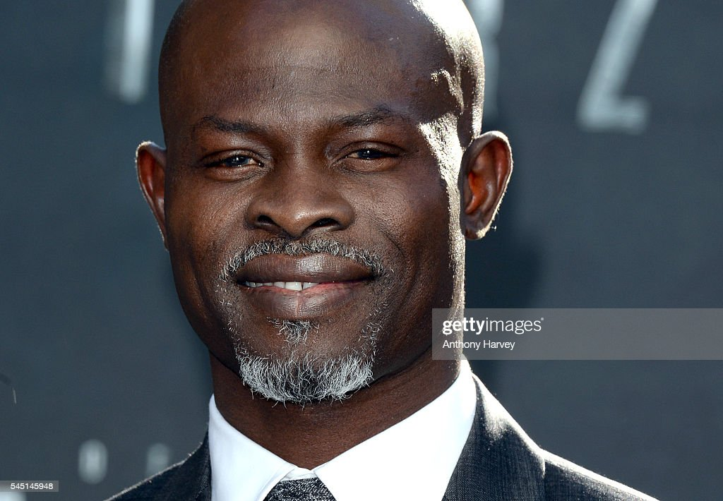 Djimon Hounsou attends the european premiere of 'The Legend Of Tarzan' at Odeon Leicester Square on July 5, 2016 in London, England.