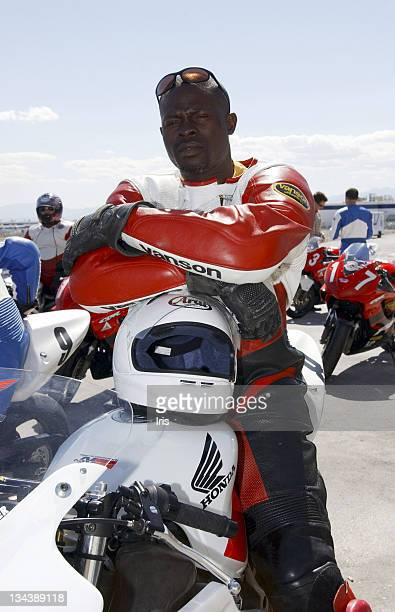 Djimon Hounsou during Celebrity Biking May 12 2003 at Las Vegas Motor Speedway in Las Vegas Nevada United States