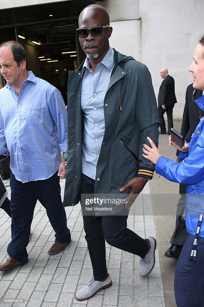 Djimon Hounsou seen at BBC Radio One promoting new movie 'The Legend of Tarzan' on July 5 2016 in London England