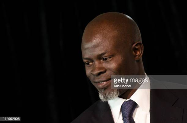 Djimon Hounsou speaks during the Oxfam America news conference to release a new report showing global food prices could more than double within 20...