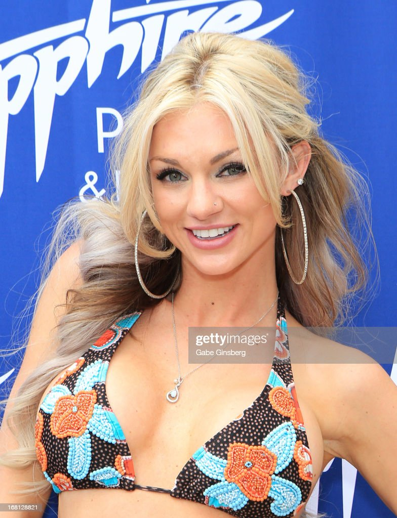 DJ/model Amie Rose arrives at the Sapphire Pool & Day Club grand opening party on May 5, 2013 in Las Vegas, Nevada.